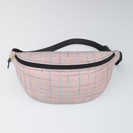 Girly Pink Plaid Grid Fanny Pack