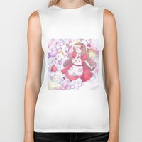 bee and puppycat Biker Tanks featuring Bee & puppycat ver 2 by Kurodoj