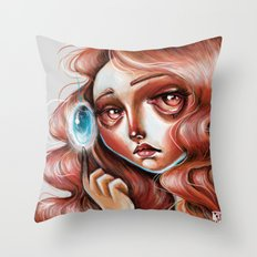 Soul Gem :: Red Headed Scamp Throw Pillow