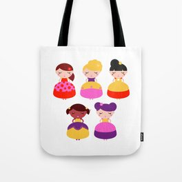 Original princess in Shop : with Fashion hairstyles Tote Bag