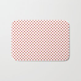 '80s Hearts - Red. Back to Basics Bath Mat