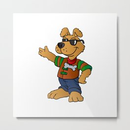 cartoon dog repair man Metal Print