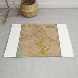 Historic Plan of the Imperial Forum Rome Map Rug