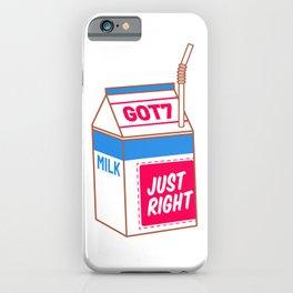 just right milk iPhone Case
