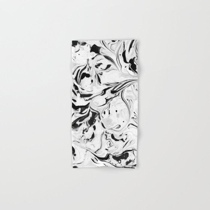 Black and White Marble Hand & Bath Towel