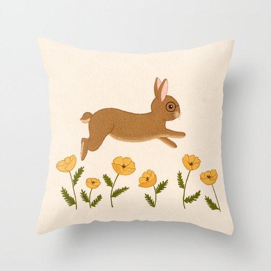 golden leap Throw Pillow