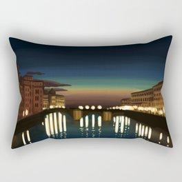 The Arno River Rectangular Pillow
