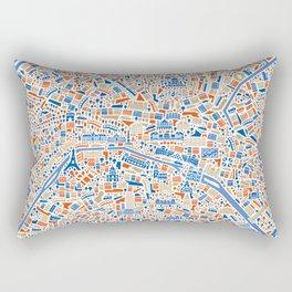 Paris City Map Poster Rectangular Pillow