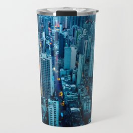 Hong Kong downtown at night Travel Mug
