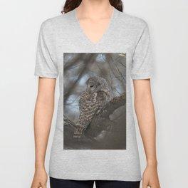 Sleepy Owl Unisex V-Neck