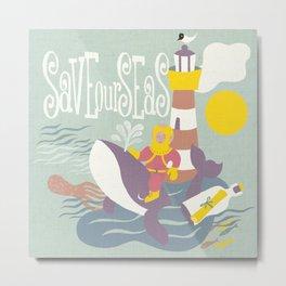 save our seas Metal Print