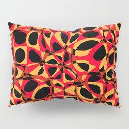 orange red circle pattern Pillow Sham