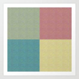 Foursquares Color Forms Art Print