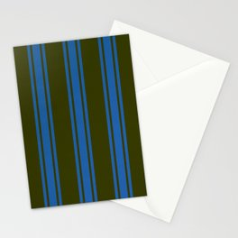 Dark striped pattern Stationery Cards
