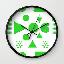 BLOCK PARTY IN NEON GREEN Wall Clock