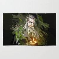 gandalf Area & Throw Rugs featuring THE LORD OF THE RINGS GANDALF by Graphic Craft