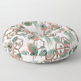 Christmas Succulent Garden. Echeveria, Cacti, plants, aloe vera, pachyveria, haworthia, holiday gift Floor Pillow