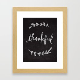 Thankful Chalkboard Art Framed Art Print