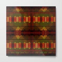 """""""Full Colors Tribal Pattern"""" Metal Print"""