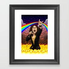 Ronnie James Dio Framed Art Print
