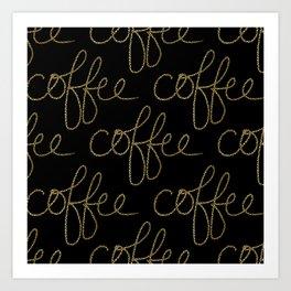 Coffee Dots Art Print