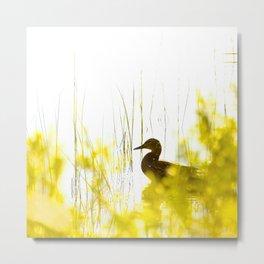Bird by the lake #decor #society6 #buyart Metal Print