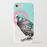 techno iPhone & iPod Cases featuring Techno Crow by Zeke Tucker