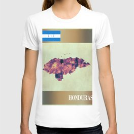 Honduras Map with Flag T-shirt