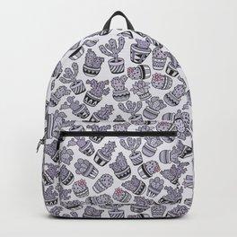 Modern purple black lavender cactus floral pattern Backpack