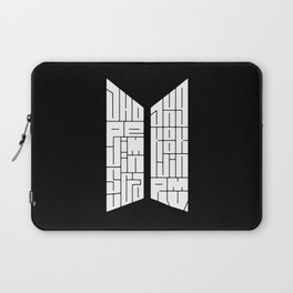 BTS Typography - Bangtan Boys Kpop Laptop Sleeve