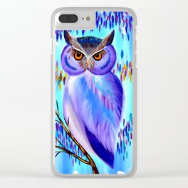 Cute Owl Clear iPhone Case