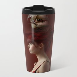 Sailing - Red Metal Travel Mug