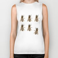 bees Biker Tanks featuring Bees  by Cécile Pellerin