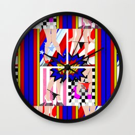 KA POW Wall Clock