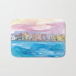 Willemstad Curacao Caribbean Sunset Bath Mat
