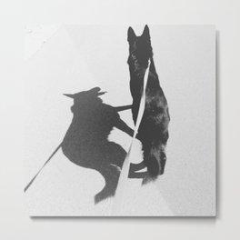 Shadow Dog Metal Print