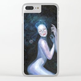 Waterlily Girl Clear iPhone Case