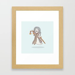 Ghostly Lady Justice Framed Art Print