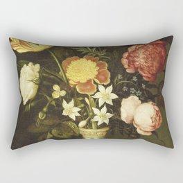 Ambrosius Bosschaert - Still life with flowers in a wan-li vase Rectangular Pillow