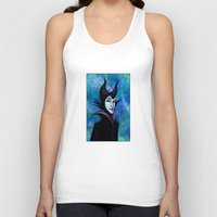 maleficent Tank Tops featuring Maleficent by Kimberly Castello