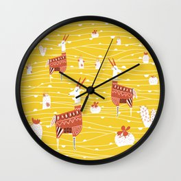 Antelope in the desert Wall Clock