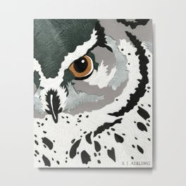 Feathered Inquiry  Metal Print