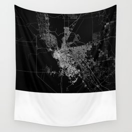 El Paso map Wall Tapestry