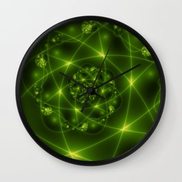 Fractal The Hope And The Light Wall Clock