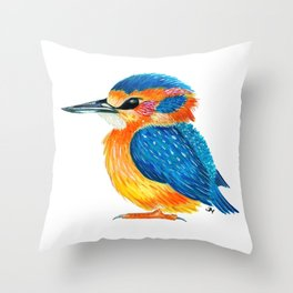Mister Kingfisher Throw Pillow