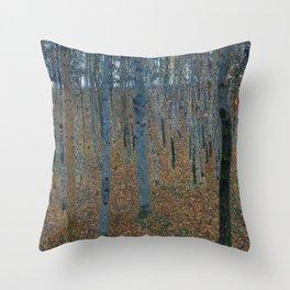 Gustav Klimt - Beech Grove Throw Pillow