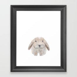 the littlest bunny Framed Art Print