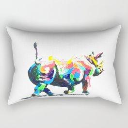 Rainbow Rhino Rectangular Pillow
