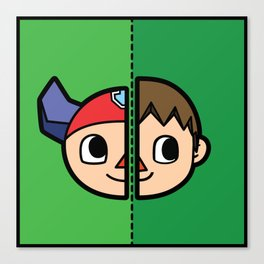 Old & New Animal Crossing Villager Comparison Canvas Print