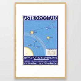 ASTROPOSTALE - Solar System Map Framed Art Print